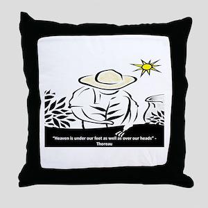 Heaven - Thoreau Throw Pillow