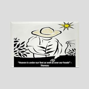 Heaven - Thoreau Rectangle Magnet