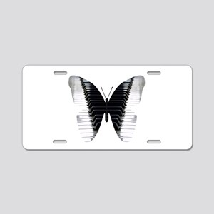 Butterfly Piano Aluminum License Plate