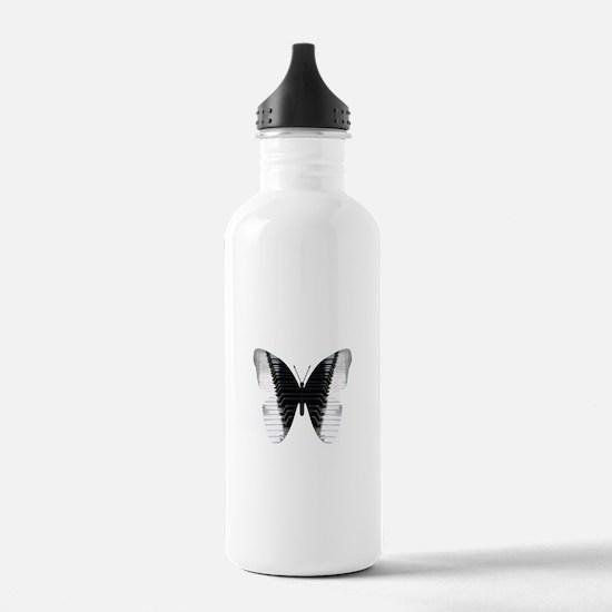 Butterfly Piano Water Bottle