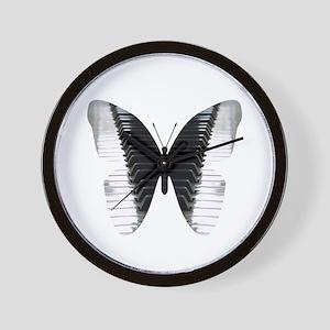 Butterfly Piano Wall Clock