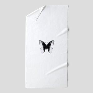 Butterfly Piano Beach Towel
