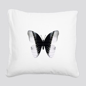 Butterfly Piano Square Canvas Pillow