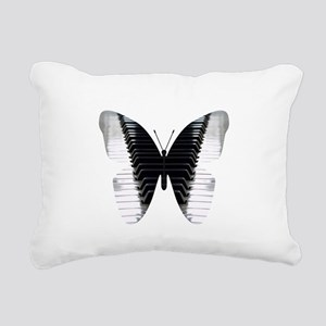 Butterfly Piano Rectangular Canvas Pillow