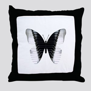 Butterfly Piano Throw Pillow