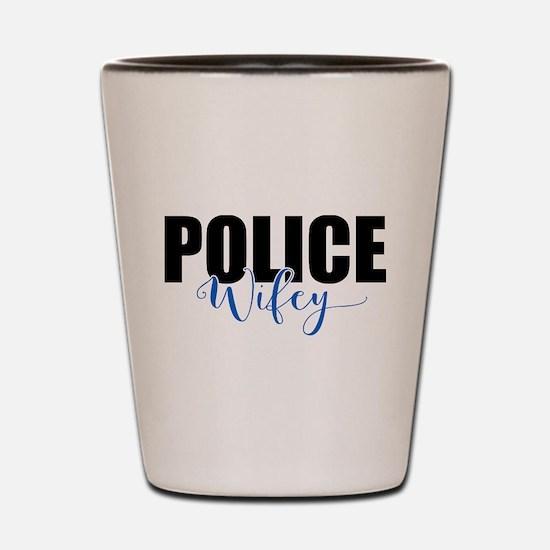 Police Wifey Shot Glass
