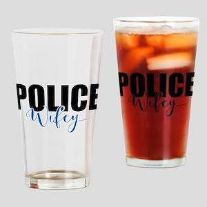 Police Wifey Drinking Glass