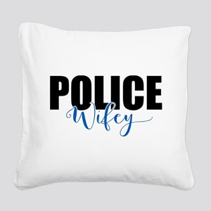 Police Wifey Square Canvas Pillow