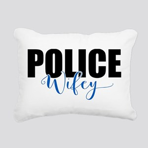Police Wifey Rectangular Canvas Pillow
