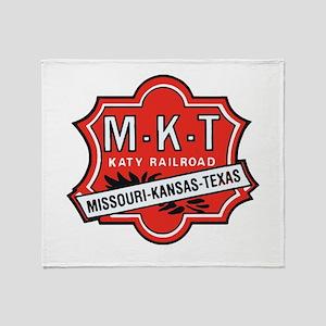 Missouri Kansas Texas Railroad logo Throw Blanket