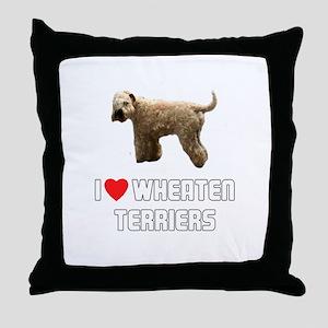 I Love Wheaten Terriers Throw Pillow