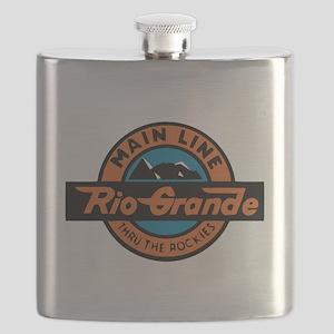 Rio Grande Railway logo 2 Flask