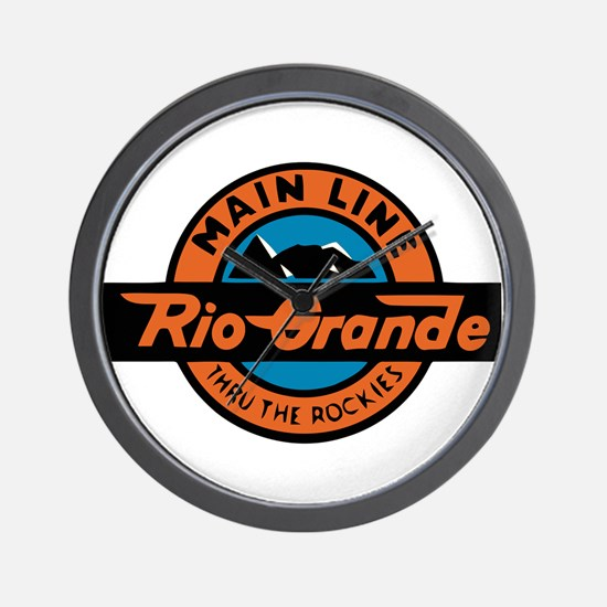 Rio Grande Railway logo 2 Wall Clock