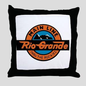 Rio Grande Railway logo 2 Throw Pillow