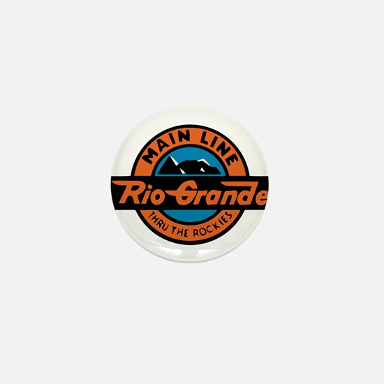 Rio Grande Railway logo 2 Mini Button