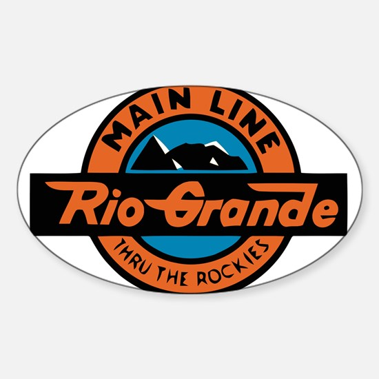 Rio Grande Railway logo 2 Decal