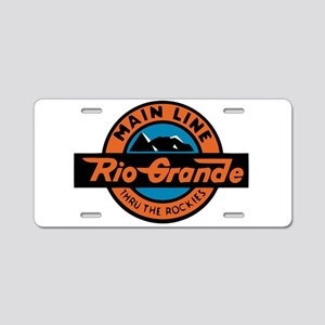 Rio Grande Railway logo 2 Aluminum License Plate