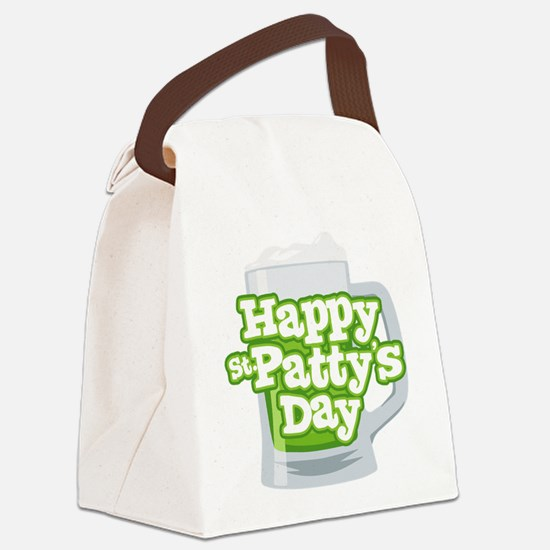 St Patty's Green Beer Canvas Lunch Bag