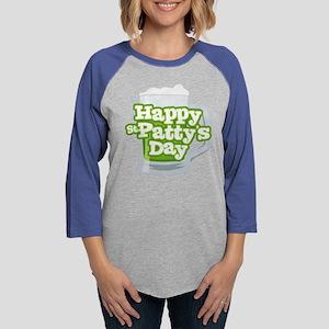 St Patty's Green Beer Womens Baseball Tee