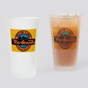 Rio Grande Railway logo 1 Drinking Glass
