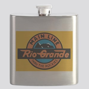 Rio Grande Railway logo 1 Flask