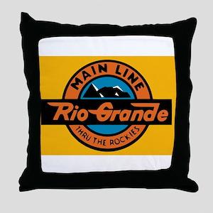 Rio Grande Railway logo 1 Throw Pillow