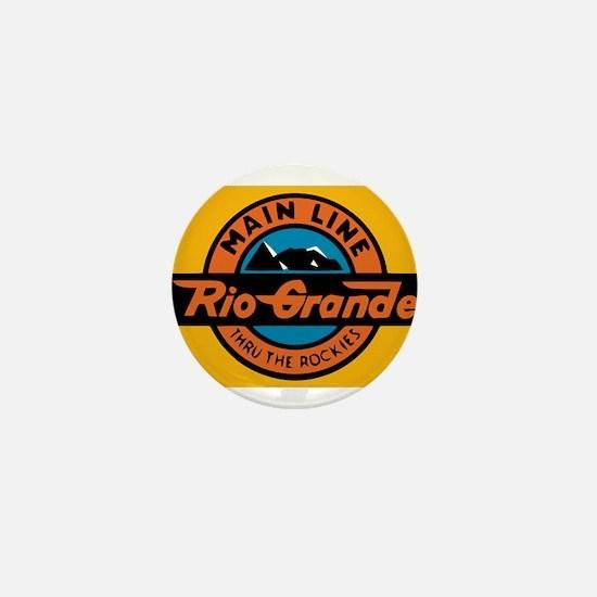 Rio Grande Railway logo 1 Mini Button