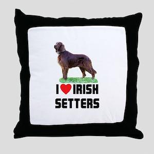 I Love Irish Setters Throw Pillow