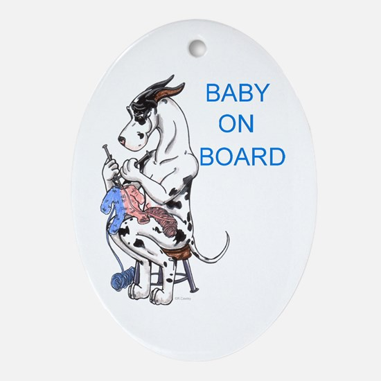 On Board Great Dane Keepsake (Oval)