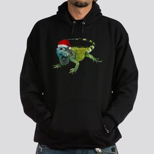 Santa Iguana Hoodie (dark)