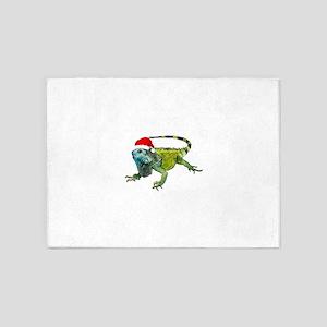 Santa Iguana 5'x7'Area Rug