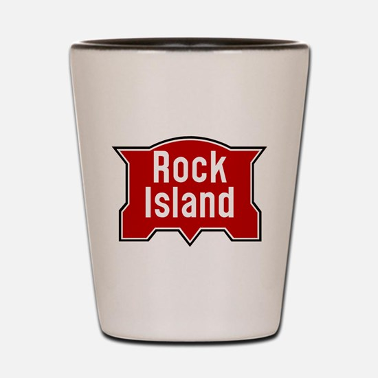 Rock Island railway logo 2 Shot Glass