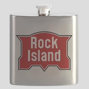Rock Island railway logo 2 Flask