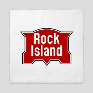 Rock Island railway logo 2 Queen Duvet