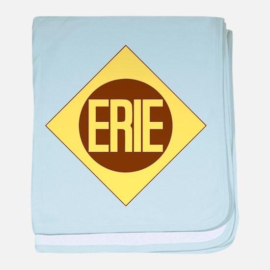 Erie Railway logo 1 baby blanket