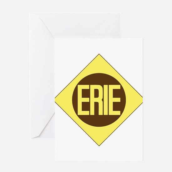 Erie Railway logo 1 Greeting Cards