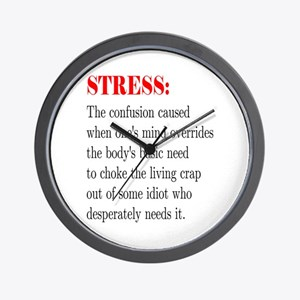 Stress Wall Clock