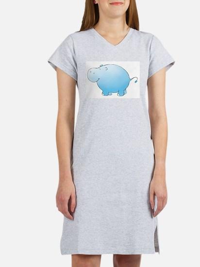 Cute Baby blue Women's Nightshirt