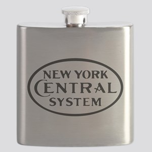 New York Central System Railroad logo4 Flask