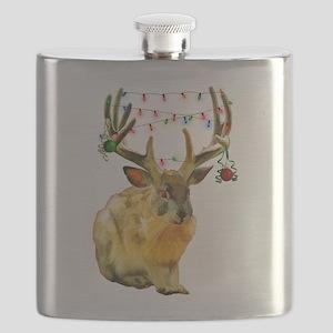 Christmas Jackalope Flask