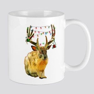 Christmas Jackalope Mugs