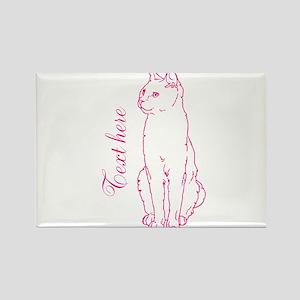 Pink Custom Cat Design Magnets