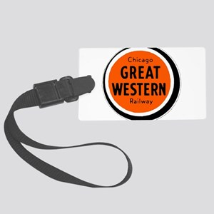 Chicago Great Western Railway lo Large Luggage Tag