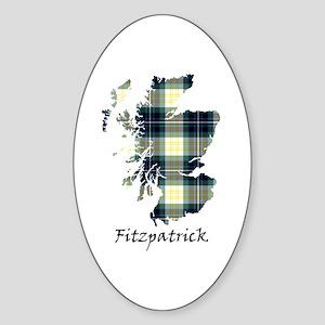 Map - Fitzpatrick Sticker (Oval)