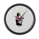 Party Penguin Large Wall Clock