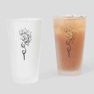 Rising Om - Silver fade Drinking Glass