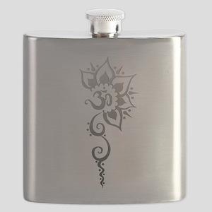 Rising Om - Silver fade Flask