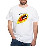 Flaming Flying Penguin White T-Shirt
