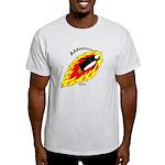 Flaming Flying Penguin Light T-Shirt