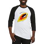 Flaming Flying Penguin Baseball Jersey
